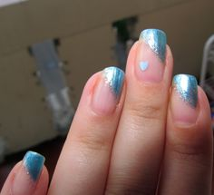 I went to a wedding all dressed in light blue, and had matching nails ;o)