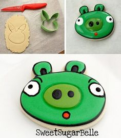 Adorable Angry Birds Party favor cookie to take home #angrybirds