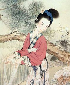 Xishi - Known as one of the Four Great Beauties of China - Celebrated as a woman of extraordinary natural beauty with universal appeal - Daughter of a tea trader in Zhuji County in the state of Yue around 500 BC