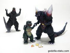 Don't follow the stranger! (Godzilla 1995 Birth Version, Little Godzilla, and Space Godzilla)