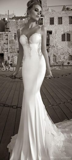 Free shipping, $193.72/Piece:buy wholesale 2015 Galia Lahav Vintage Mermaid Lace Beach Wedding Dresses Spaghetti Strap Backless Lace Cathedral Train Stretch Satin Sexy Bridal Dress from DHgate.com,get worldwide delivery and buyer protection service.