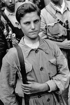 Madrid, Spain. A Republican soldier. By Robert Capa, (August-September 1936)