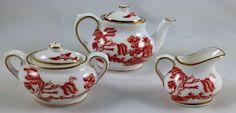 COALPORT Miniature 3 Piece Tea Set // Bone China by GTGVintageEtc