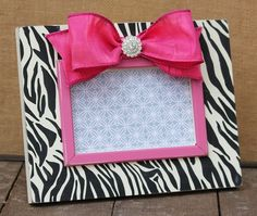 Black Zebra Print Picture Frame with pink border & bow detail. Zebra Print Bedroom, Zebra Bedrooms, Girls Bedroom, Bedroom Ideas, Zebra Decor, Pink Zebra, Teal, Pink Room, Little Girl Rooms