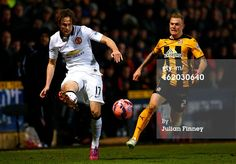 Daley Blind of Manchester United passes the ball under pressure from Richard Tait of Cambridge United Daley Blind, Cambridge United, Under Pressure, Manchester United, The Unit, Creative, Sports, Travel, Hs Sports