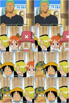Luffy tries to insult Zoro One Piece Funny Moments, One Piece Meme, Manga Anime, Anime One, One Piece Pictures, One Piece Luffy, Anime Shows, Pirates, Disney