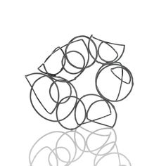 Line Drawings | Jewelry inspired by formalism and simple line drawings with a focus on negative space, transitional points, and visual movement. | sterling silver | 2007-2011 | All Images by Hank Drew