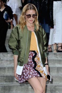 Оливия Палермо на неделе моды в Париже.