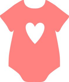 Peach Heart Onesie