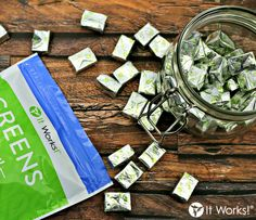 While Greens Chews have some similar ingredients to Greens powder , these little guys are powered by their own unique blend of fruits, veggies, and fiber to boost your body's free radical fighting defenses ! #Nutrition