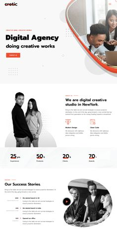 Cretic – is a Creative Agency WordPress Theme. This theme fits for any creative agencies, services, marketing & any kind of Business or Personal Websites. Site Web Design, Creative Web Design, Website Design Layout, Web Design Trends, Personal Website Design, Web Design Websites, Web Layout, Ux Design, Website Design Inspiration