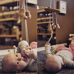 Wooden Bell Chimes Mobile Montessori by EssentialMontessori