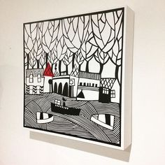 This is a paper cut which Is collaged onto a wooden block. Doesn't need to be framed #Paperartist#papercut#papercutting#papercutter#carolinerees#paperart#illustration#blacknwhiteart#blackandwhite#silhouette#welshartist#welshart#cutoutpaper#bespokeart#papercuts#papercutart#papercraft#papercutout#papercutartist#langland#mumbles#gower#swansea#collage