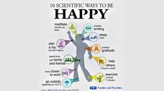10 scientific ways to achieve happiness (Infographic)