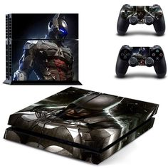 Video Game Accessories Dedicated Skin For Ps4 Pro Chrome Skull On Black Playstation 4 Console