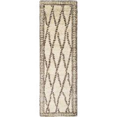 Hand-Knotted Rick Stripe Pattern Hemp Rug (2'6 x 8')