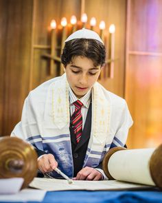 A boy becoming Bar Mitzvah. When a Jewish boy or girl becomes Bar ...