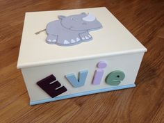 New personalised 'Rhino' keepsake boxes - available in various sizes & any colours.