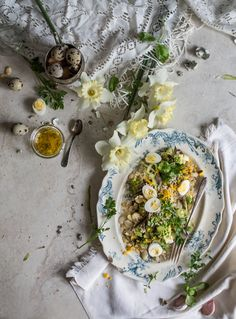 Egg 'Mimosa' Salad with Roasted Romanesco, Sprouted Rice & Roasted Garlic Dressing   Hortus Natural Cooking