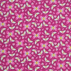 violet butterfly insect fabric Lavender by Michael Miller USA 3