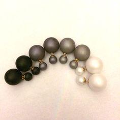 Dark or light grey earrings