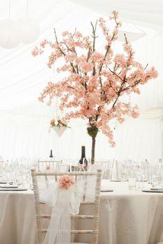 ideas for cherry blossom tree wedding beautiful Tree Centerpieces, Wedding Centerpieces, Wedding Table, Centrepieces, Pond Wedding, Dream Wedding, Wedding Decorations, Cherry Blossom Theme, Pink Blossom Tree