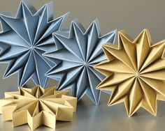 Leporello origami stars
