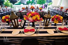 Lines by La Tavalo  Flowers by Nancy Liu Chin  Hot Pink Roses, Yellow Roses, Pink Tulips, Black urns,   Event Design by Nancy Liu Chin  Photography by Vero Suh  Venue Madrona Manor