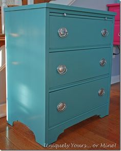 Cute Mahogany Chest With Benjamin Moore Advance Paint That Was Color Matched To Provence Chalk