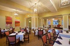 Elegant dining room inside Felicita Vida Senior Living in Escondido, CA