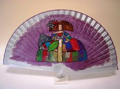 MENINA ABSTRACTA EN PLATA Hand Fan, Home Appliances, Modern, Toddler Girls, Hand Fans, Painted Fan, Hearts Of Palms, Resin Jewellery, Umbrellas