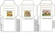 seed packets - free printable