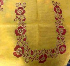 Aari work blouse neck pattern