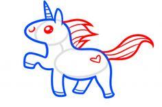 how to draw a kawaii unicorn step 4