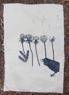 Ravens and dandelions back patch by amarahollowbones on Etsy https://www.etsy.com/listing/230299818/ravens-and-dandelions-back-patch
