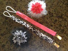 DIY Binky clips and hair bows!