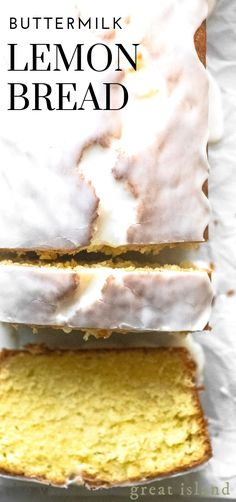 Buttermilk Lemon Bread is a moist lemon quick bread with a super tangy glaze, en… Buttermilk Lemon Bread is a moist lemon quick bread with a super tangy glaze, enjoy it for breakfast, for a coffee break, or with afternoon tea. Buttermilk Bread, Buttermilk Recipes, Lemon Bread, Lemon Recipes, Sweet Recipes, Lemon Buttermilk Pound Cake, Lemon Loaf, Banana Bread, Quick Bread Recipes