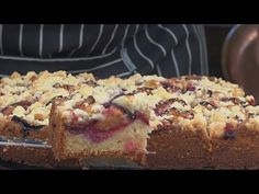 Pyszne ciasto ze śliwkami i kruszonką / Oddaszfartucha - YouTube Cake Cookies, Banana Bread, Cheesecake, Food And Drink, Pie, Youtube, Bakken, Torte, Cake