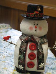 Sock Snowman by Tia