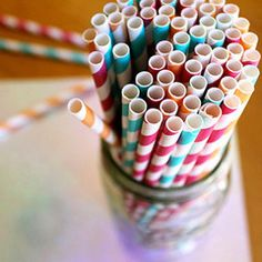 ::Pixy Stick Paper Straws are crucial for preventing drinks from staining your teeth. Plus how cute are they?!::