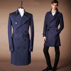 trench coat Trench Coat Outfit, Trench Coat Style, Long Trench Coat, Jacket Style, Navy Wool Coat, Winter Overcoat, Pea Coats Women, Types Of Fashion Styles, Style Fashion