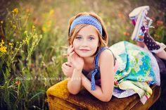 Downward Girl-on-ottoman pose