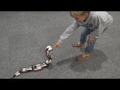 Lego Mindstorms Snake eating Kids, Legoworld 2013 - YouTube