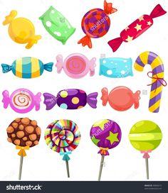 Rainbow Candy Clipart, Sweet Shop Candy Clip Art, Lollipops ...