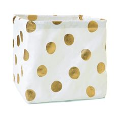 Collapsible Storage Cube - Gold Spots | Kmart