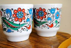Vintage Keramikos Tea Cups from Greece