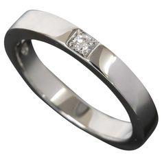 Bulgari Marryme Wedding Band Pt950 1p Diamond Ring Us Size 5