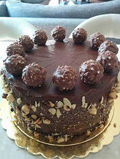 Cookbook Recipes, Cooking Recipes, Chocolate Lava, Ferrero Rocher, Greek Recipes, No Bake Cake, Delicious Desserts, Food To Make, Recipies