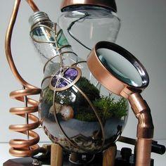 18 steampunk terrarium http://hative.com/creative-terrarium-containers/