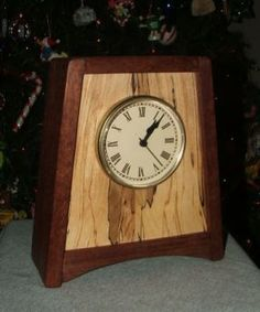 Wood Clock Trapezoid Mantle Reader S Gallery Fine Woodworking Crafts